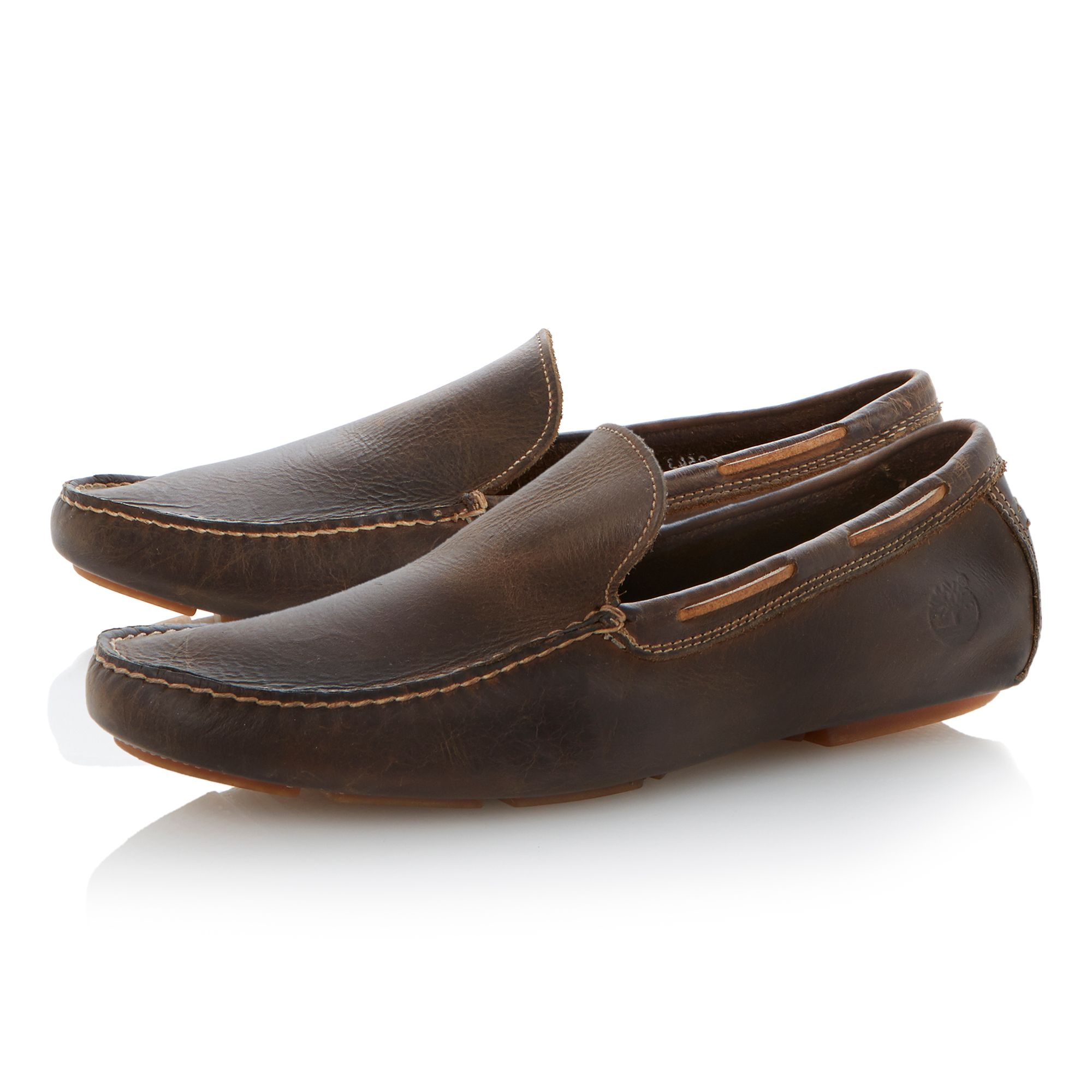 Brown Loafer Shoes With Jeans Men