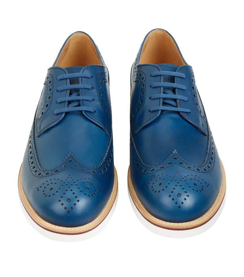 Mens Derby Shoes. Mens Derby Shoes tend to be the type of shoe that fits better on awkward feet. The 'flaps' allow for more adjustment over a high or wide arch, and the tongue usually allows for more room over the top of the foot.
