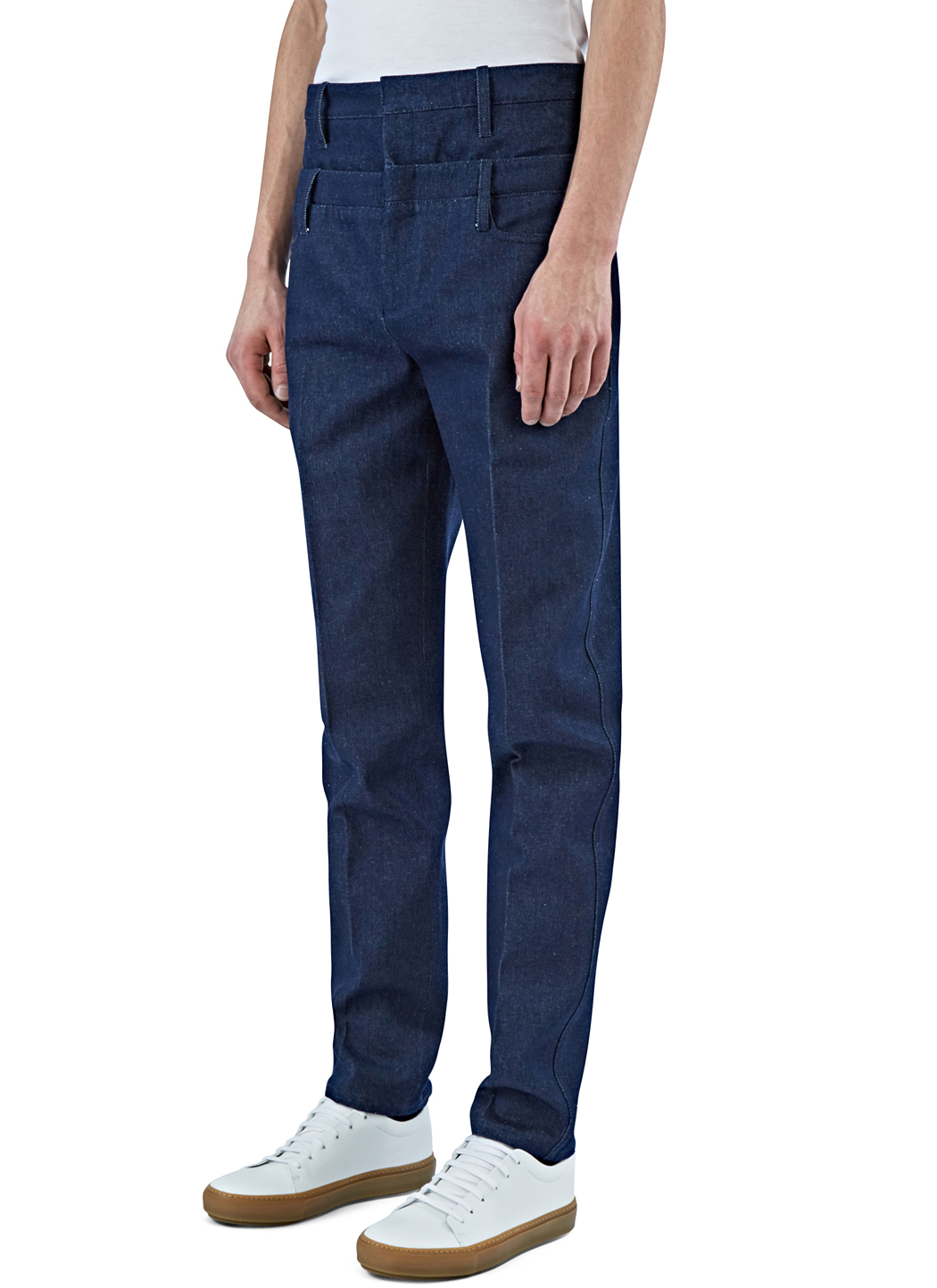 J.W.Anderson Jw Anderson - Printed Appliqué Straight Leg Jeans - Mens - Indigo Buy Cheap Manchester 2018 Newest Cheap Price Buy Cheap Cost Manchester Online Good Selling Sale Online P1n96UP1