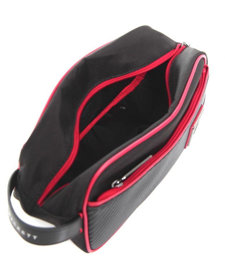 Hackett Aston Martin Racing Wash Bag In Black For Men