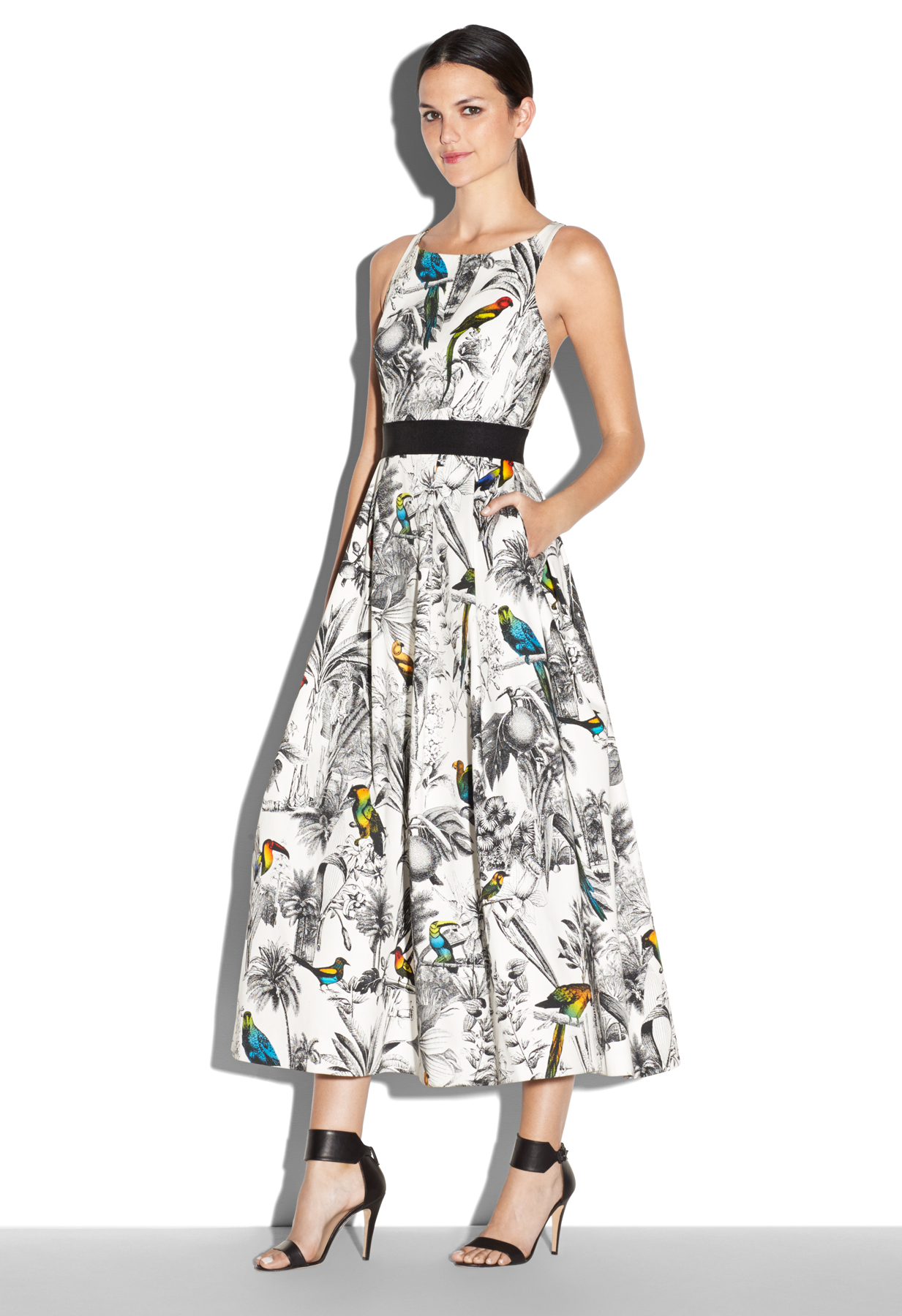 Milly Serena Tropical Print Dress Lyst