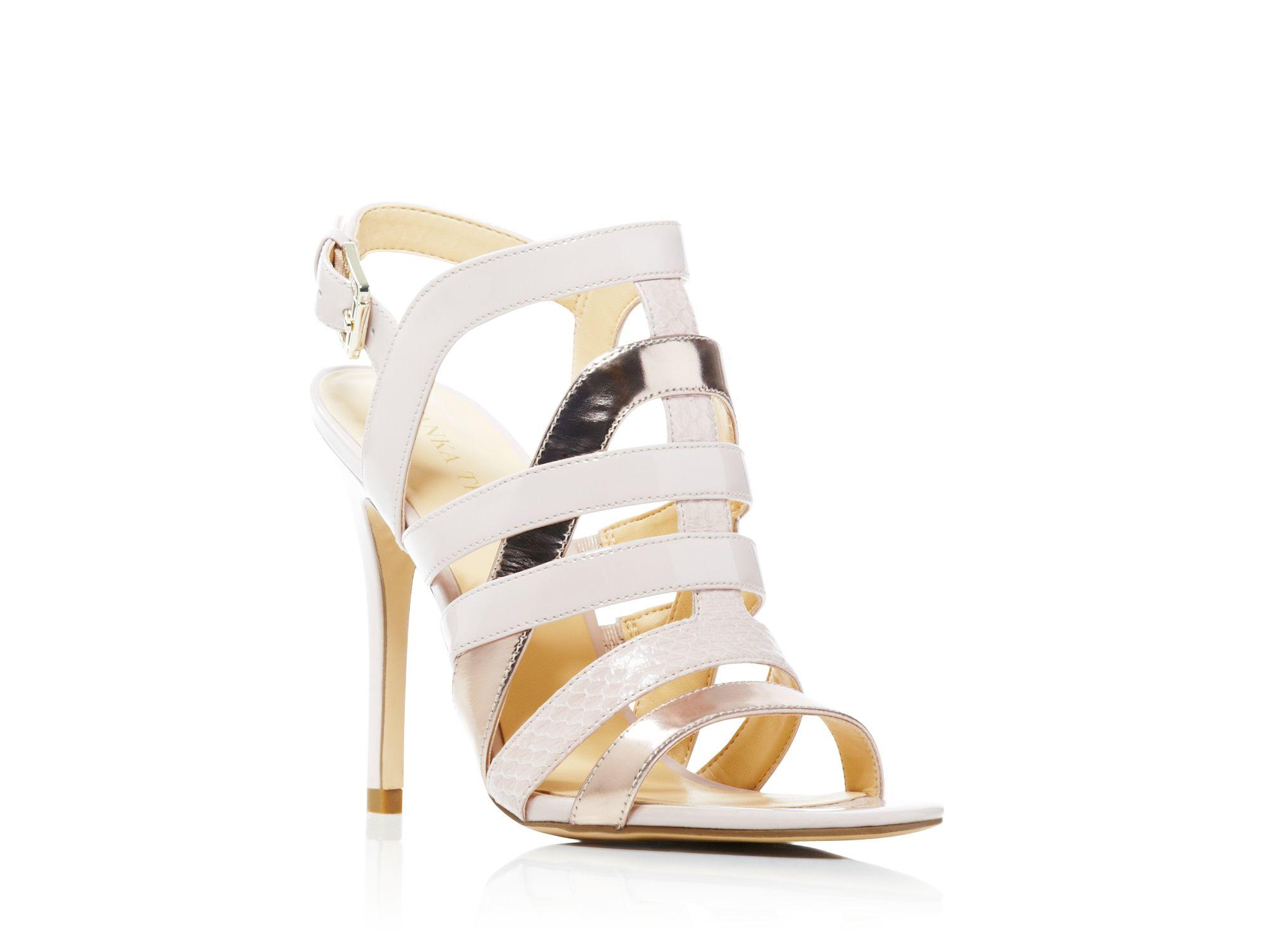Lyst Ivanka Trump Strappy Sandals High Heel in Pink