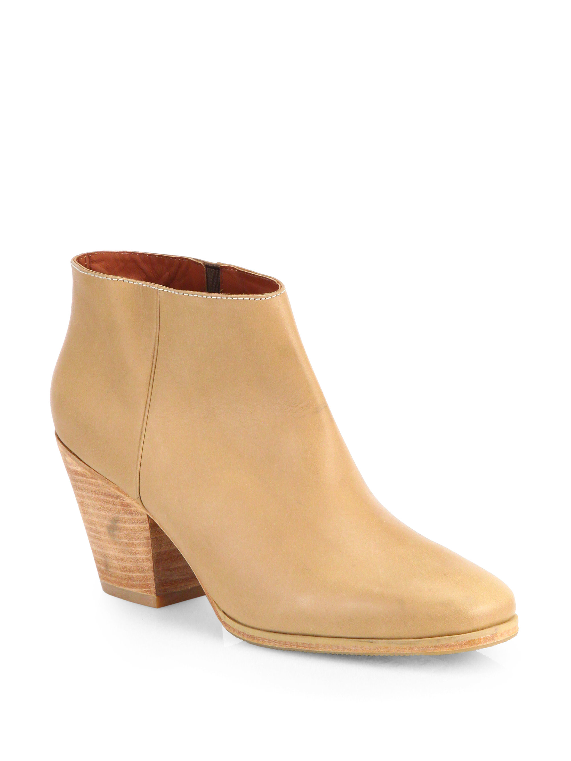 rachel comey mars leather ankle boots in beige camel lyst. Black Bedroom Furniture Sets. Home Design Ideas
