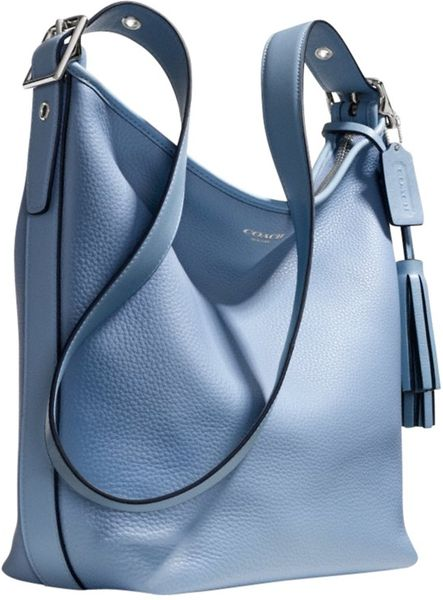 Coach Legacy Leather Duffle Shoulder Handbag in Blue
