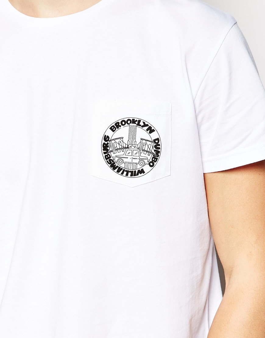 Lyst Brooklyn Supply Co T Shirt One Pocket Logo Print