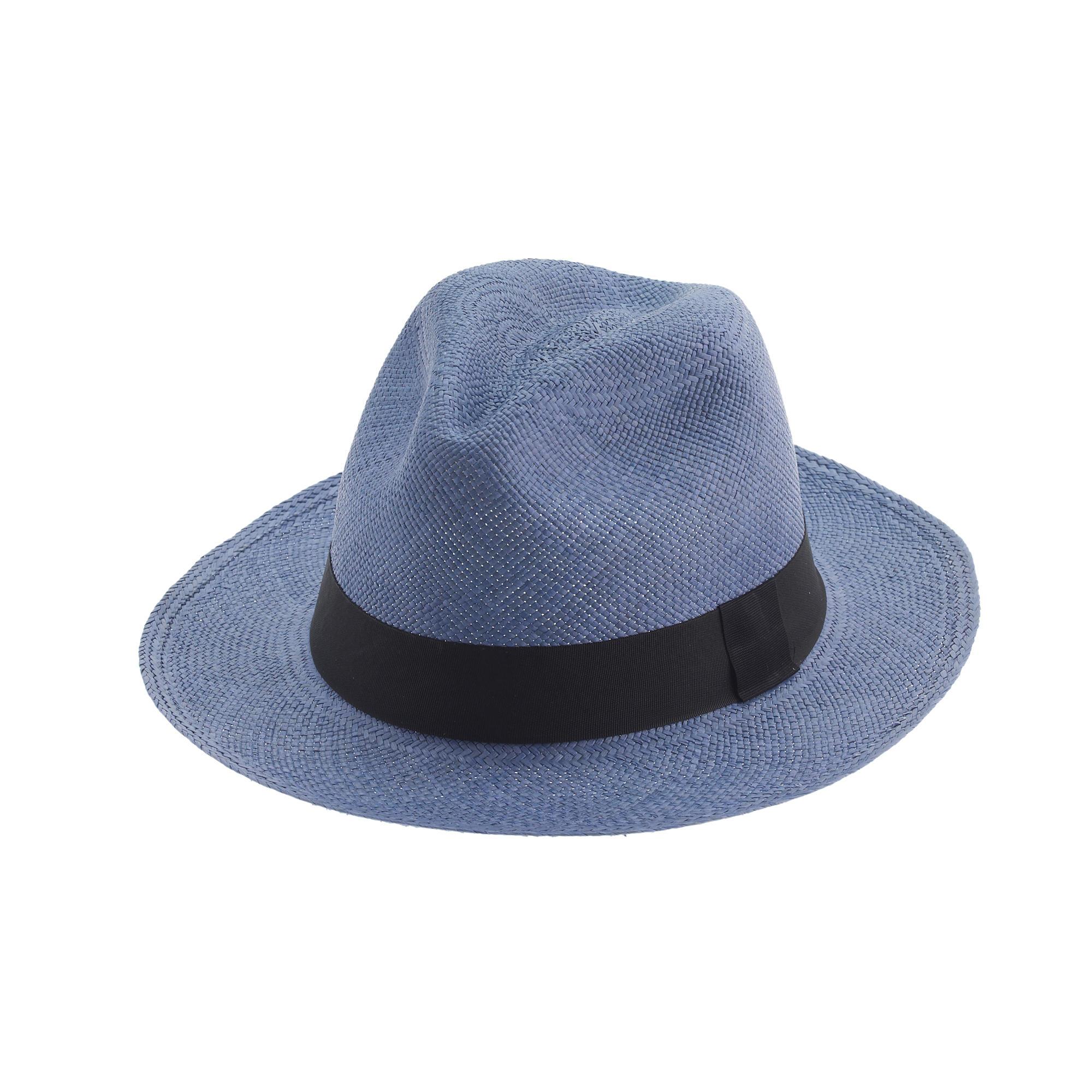 j crew panama hat in blue lyst