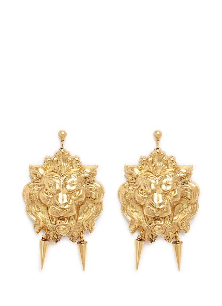 Stone Lion Earrings