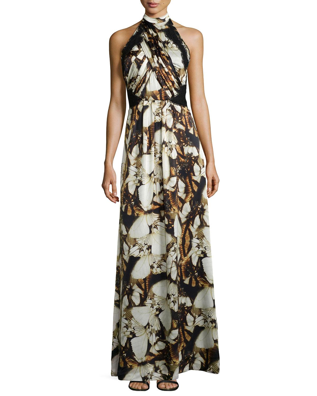 100% Guaranteed Sale Online Discount Outlet Alberta Ferretti Silk Printed Dress Sale Hot Sale x4Iq6U