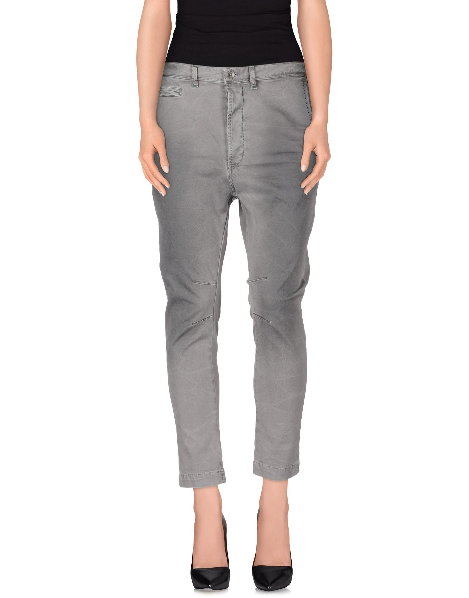 lyst patrizia pepe denim trousers in gray. Black Bedroom Furniture Sets. Home Design Ideas