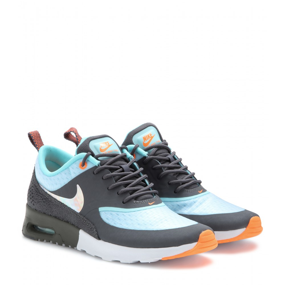 lyst nike air max thea premium sneakers in white. Black Bedroom Furniture Sets. Home Design Ideas