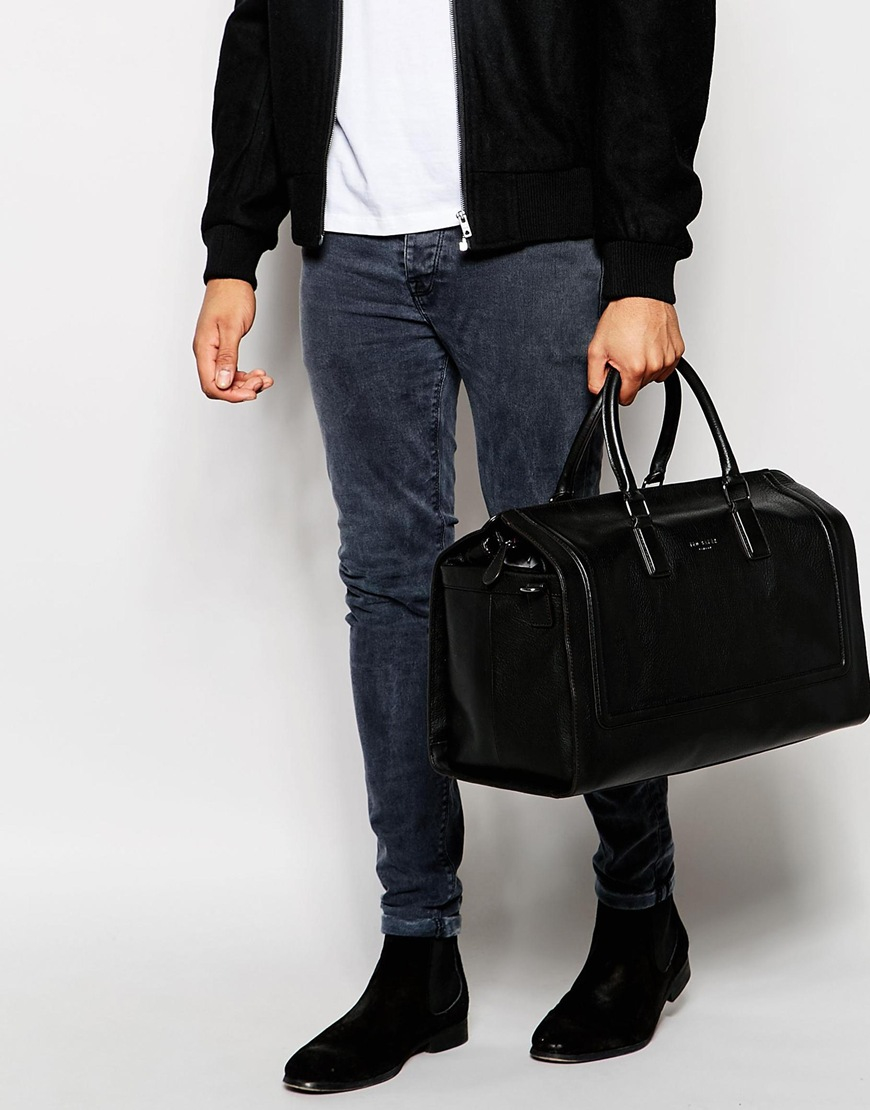 cd3dc775a7ab56 Ted Baker Shalala Leather Holdall in Black for Men - Lyst