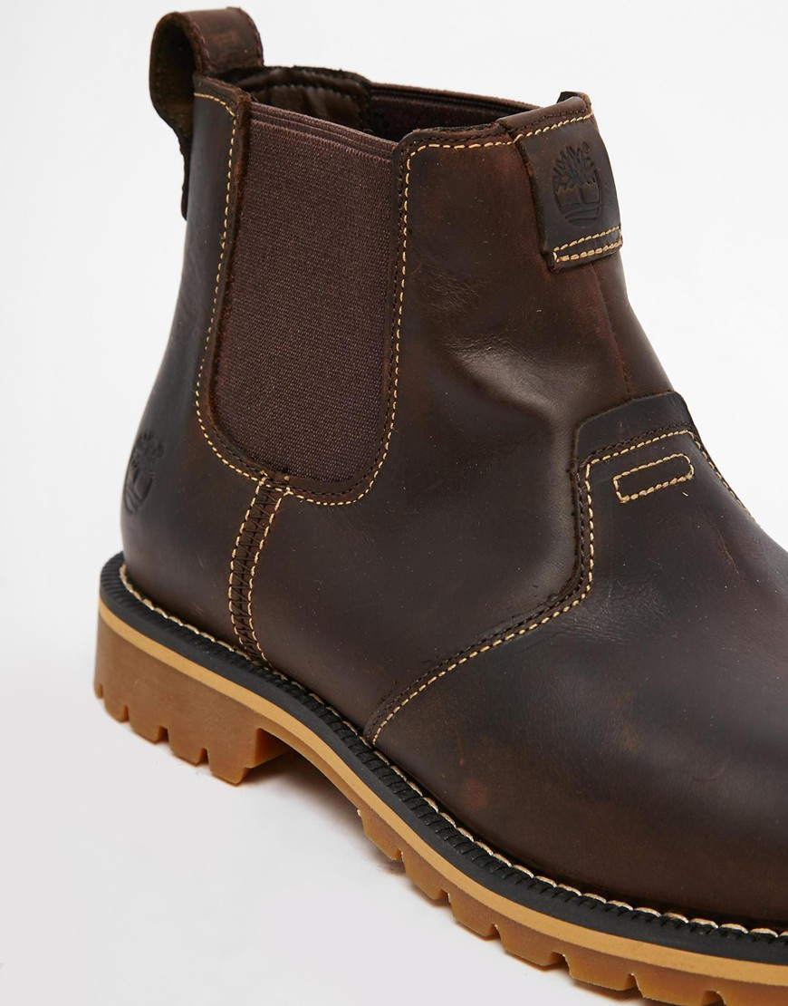 Lyst Timberland Grantly Chelsea Boots In Brown For Men