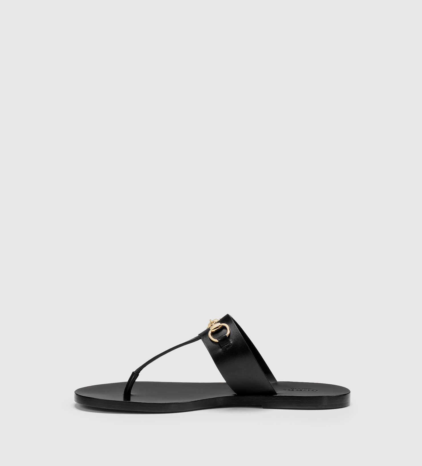f33aed7b1 Lyst - Gucci Horsebit Leather Thong Sandal in Black