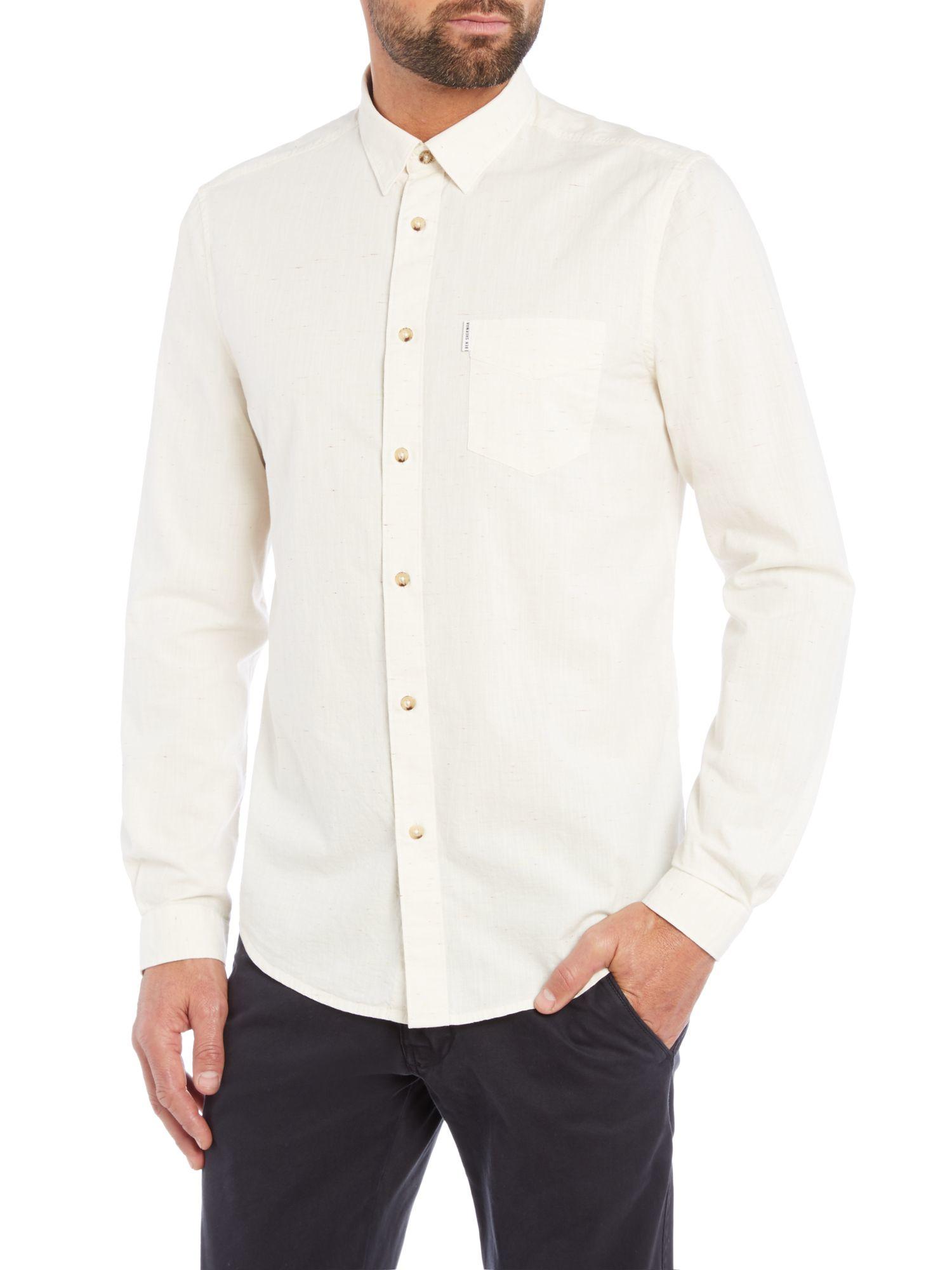 Plain White Button Down Shirt - Greek T Shirts