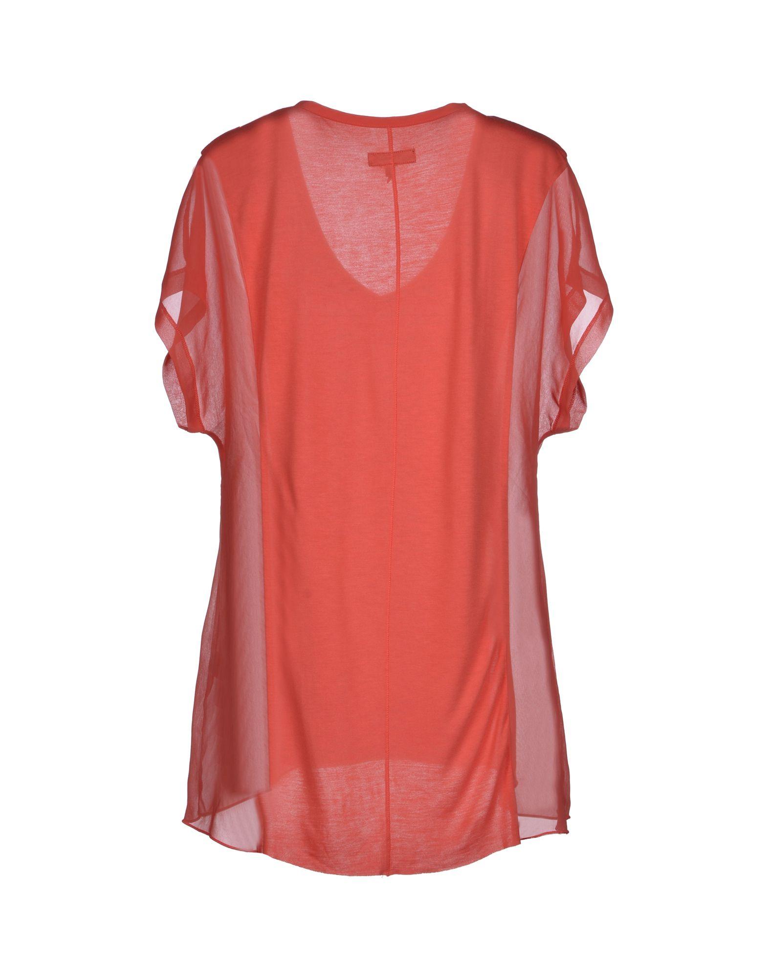 Rag Bone T Shirt In Red Coral Lyst