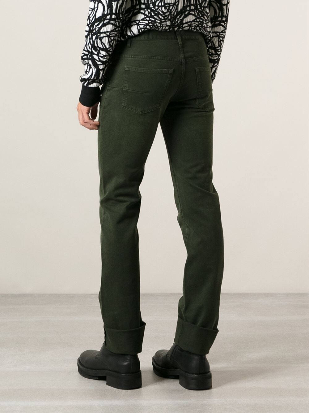 lyst dior homme slim fit jeans in green for men. Black Bedroom Furniture Sets. Home Design Ideas