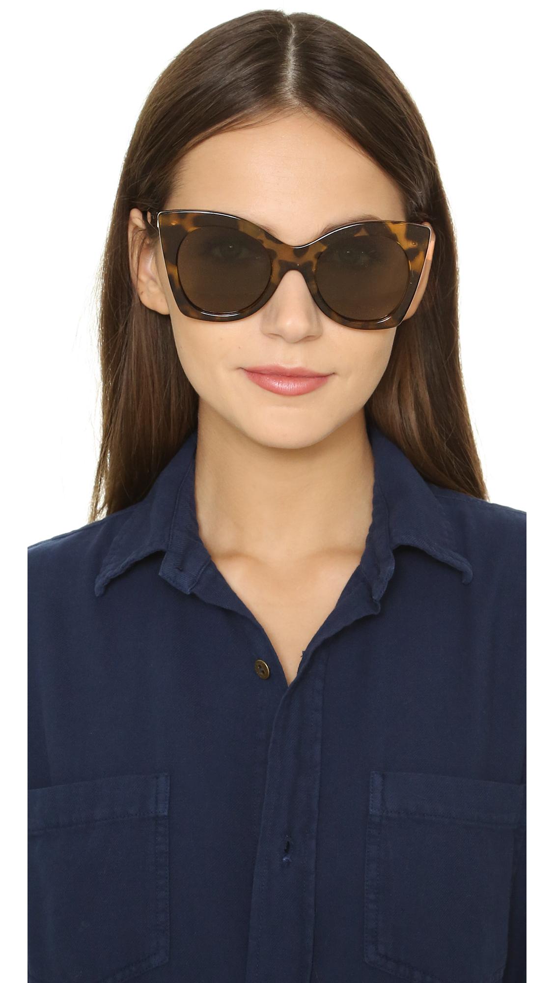 96a5c27e5e Lyst - Le Specs Savanna Sunglasses in Brown