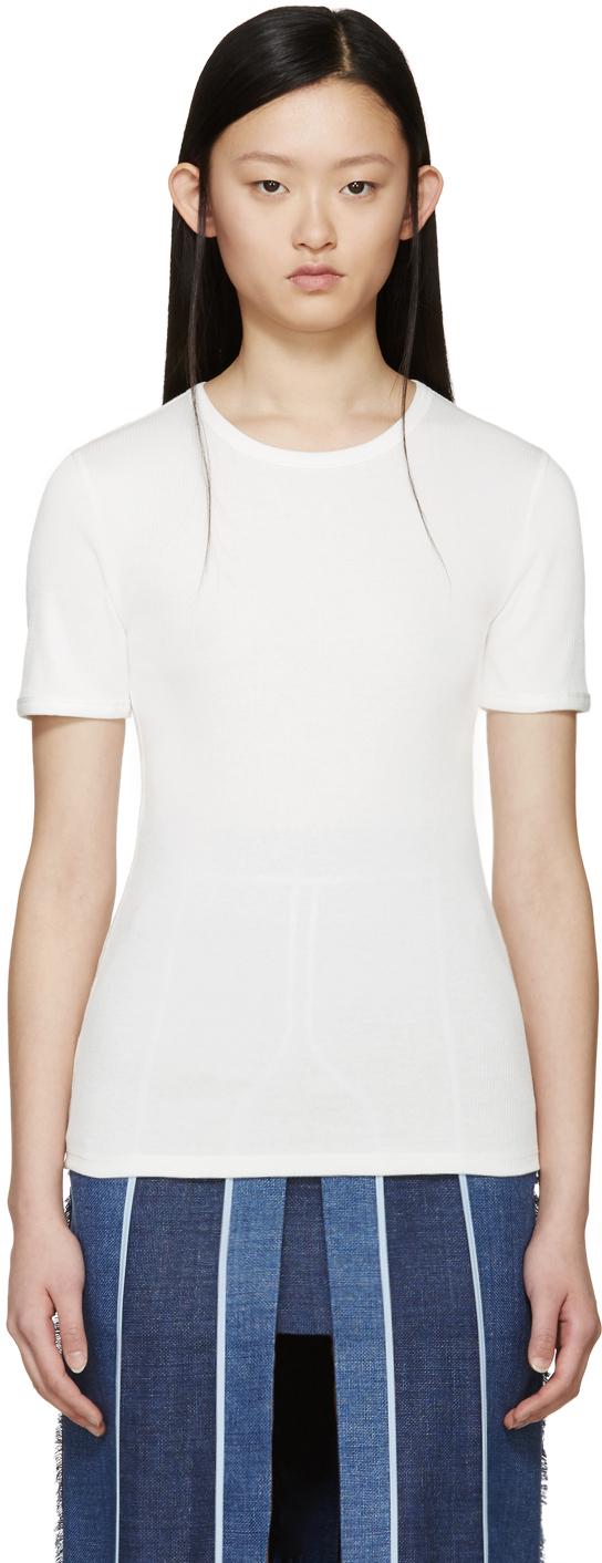 Acne Studios White Ribbed Calypsa T Shirt In White Lyst