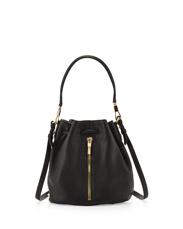 0a0f7c29d4 Lyst - Elizabeth and James Cynnie Mini Bucket Lambskin Bag in Black