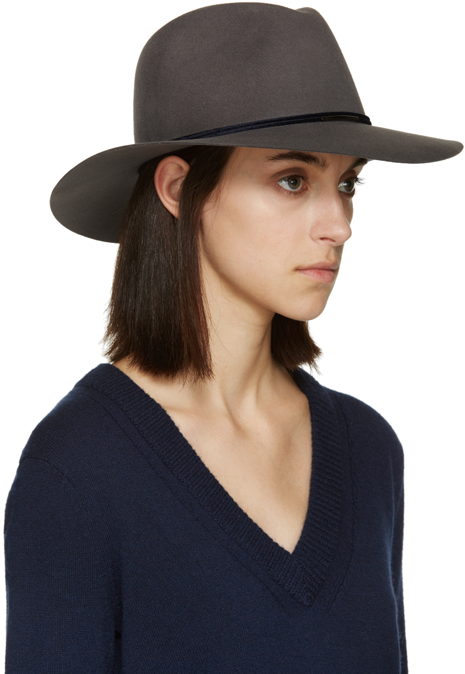 Lyst - Rag   Bone Grey Wool Range Fedora in Gray 4d3739d8e17