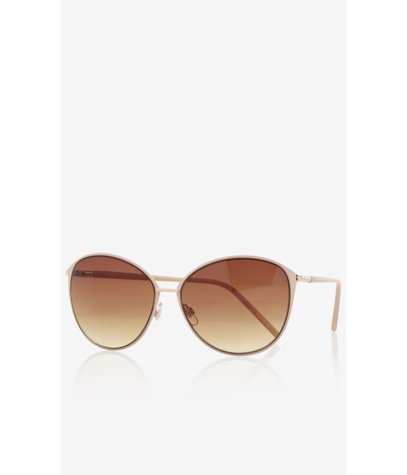 Lyst - Express Metal Frame Cat Eye Sunglasses in Natural