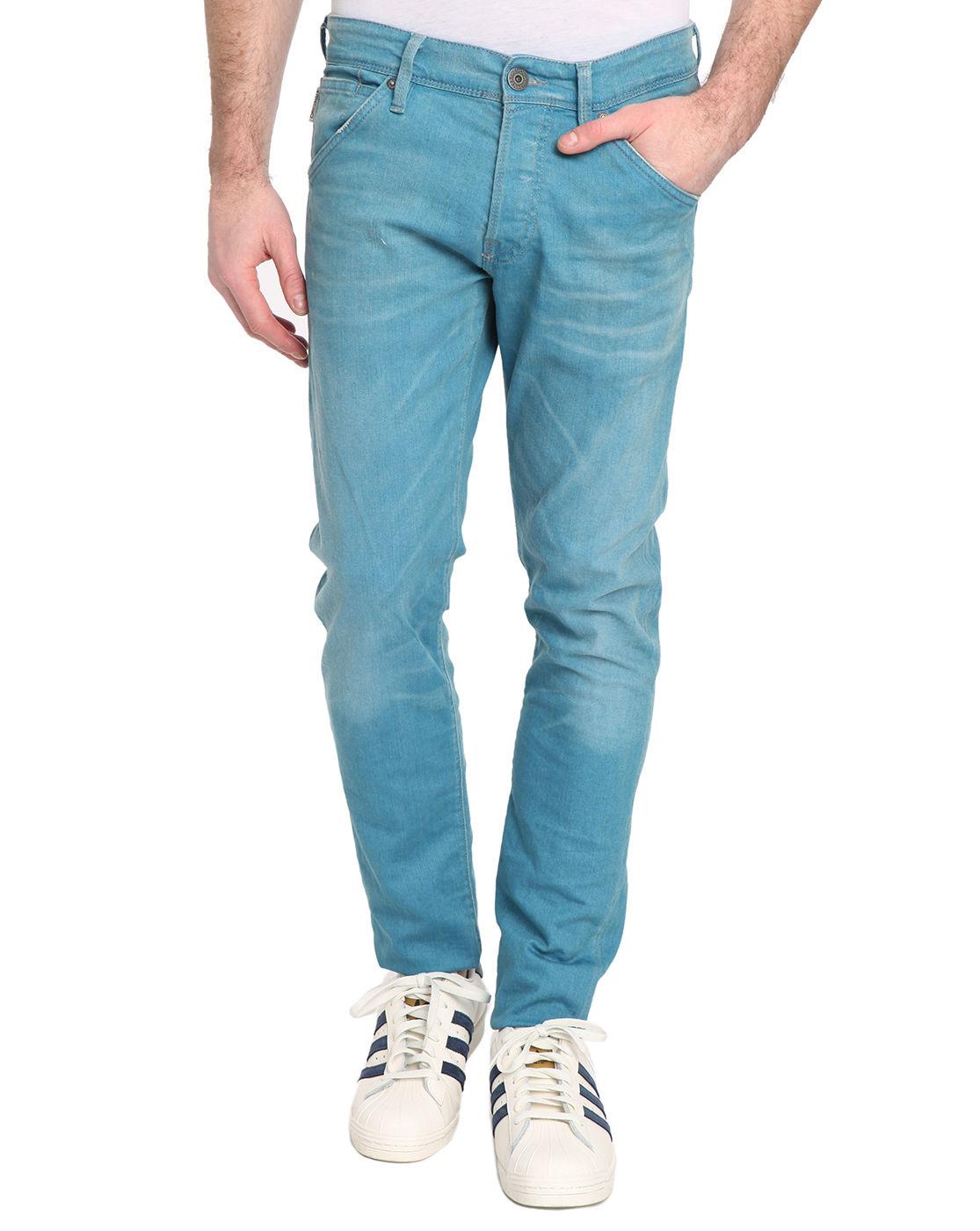jack jones glenn slim fit jeans in blue for men. Black Bedroom Furniture Sets. Home Design Ideas