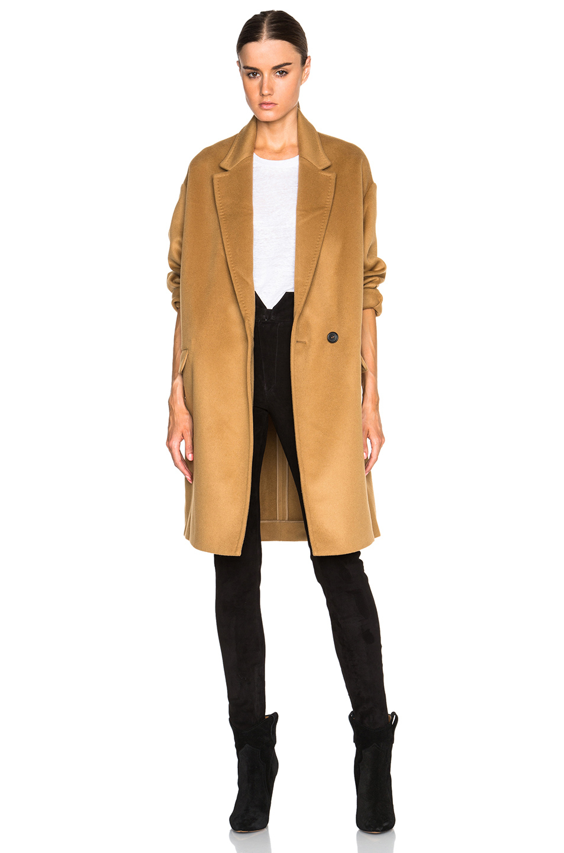 Isabel marant Corey Caban Coat in Natural | Lyst