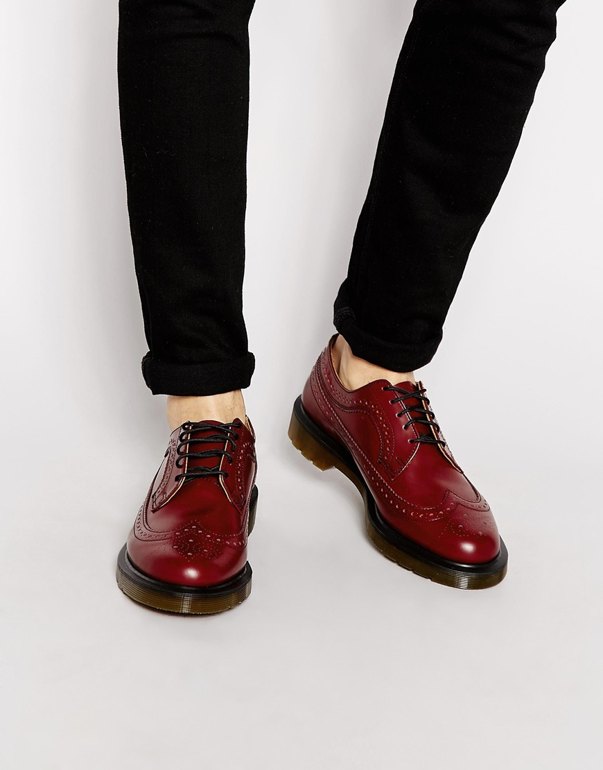 Brogues Martens Lyst Dr Red Wingtip 3989 For Men In 6Zfw1q