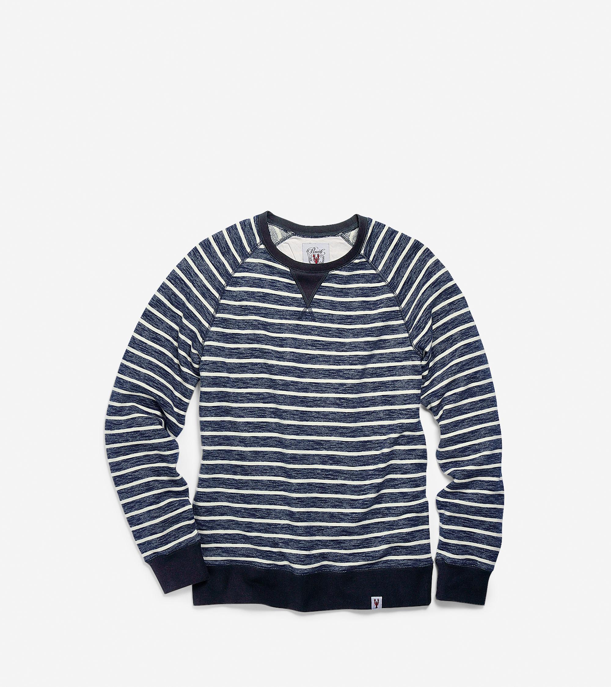 Cole Haan Men 39 S Pinch Crew Neck Stripe Long Sleeve Shirt