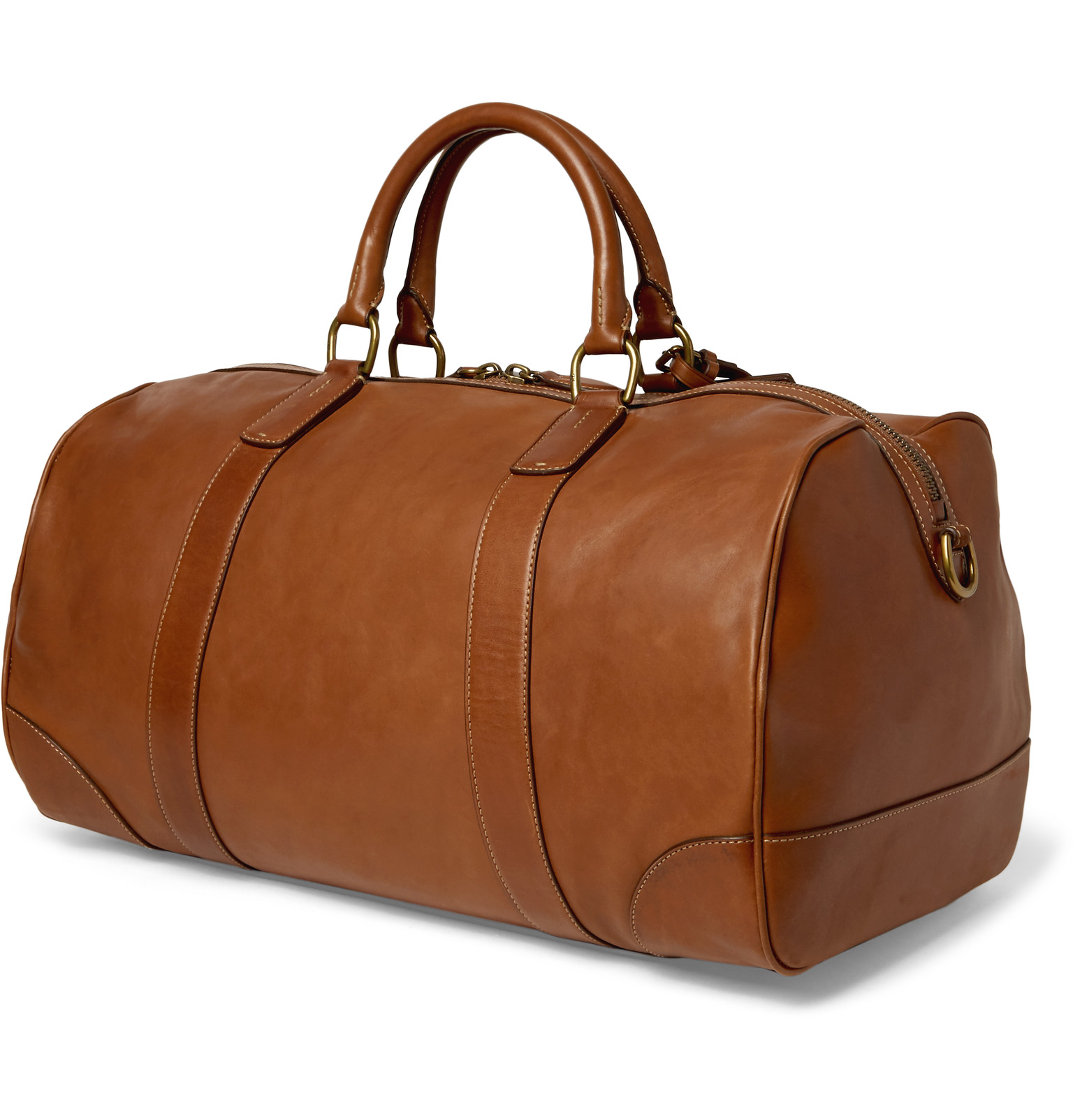 4022ca37f882 Polo Ralph Lauren Leather Duffle Bag in Brown for Men - Lyst