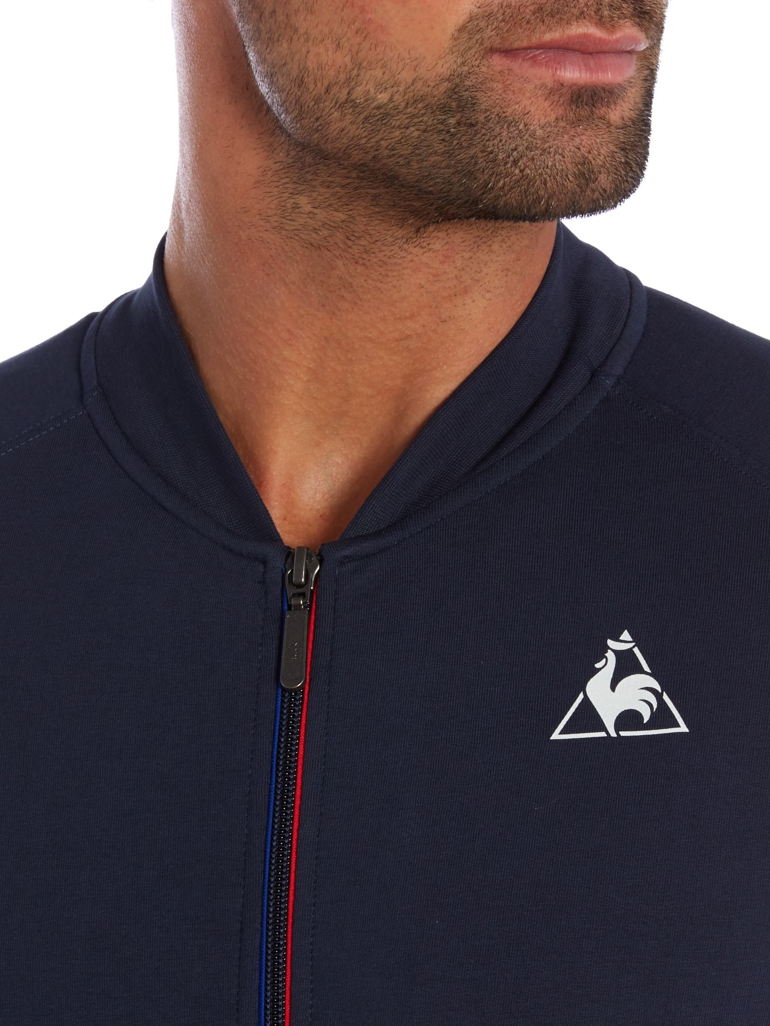 Le Coq Sportif Graphic Crew Neck Pull Over Jumpers in Blue for Men