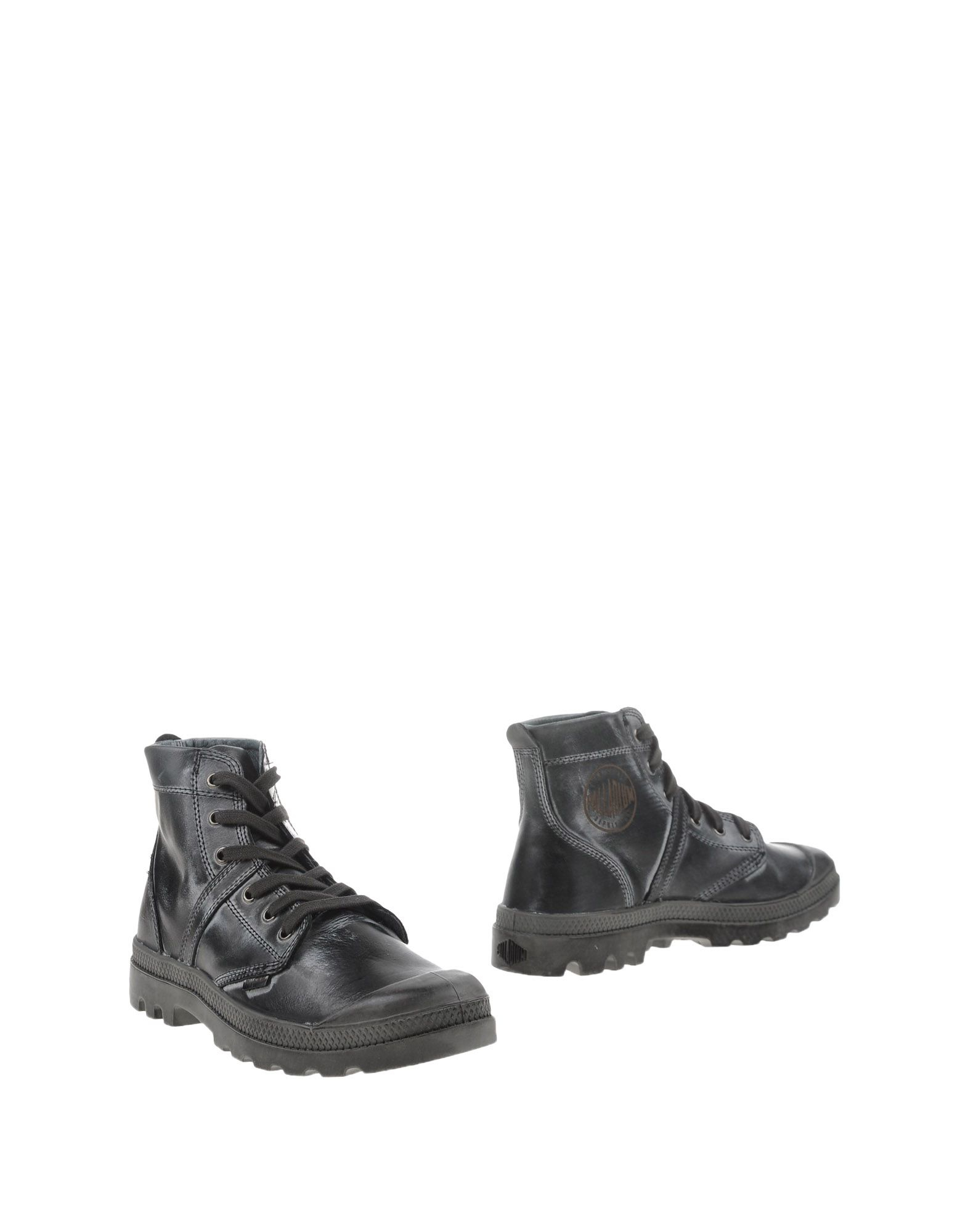 Awesome Palladium Ankle Boots In Gray Grey  Lyst