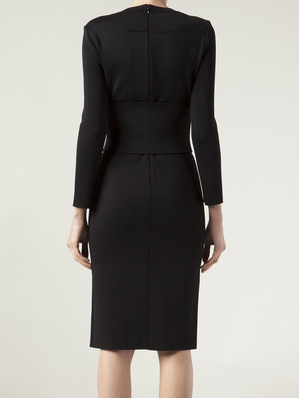 Givenchy Belted Robe Dress In Black Lyst