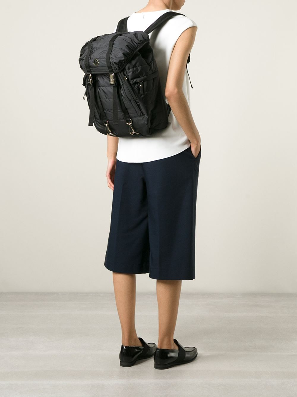 Moncler Quilted Backpack in Black