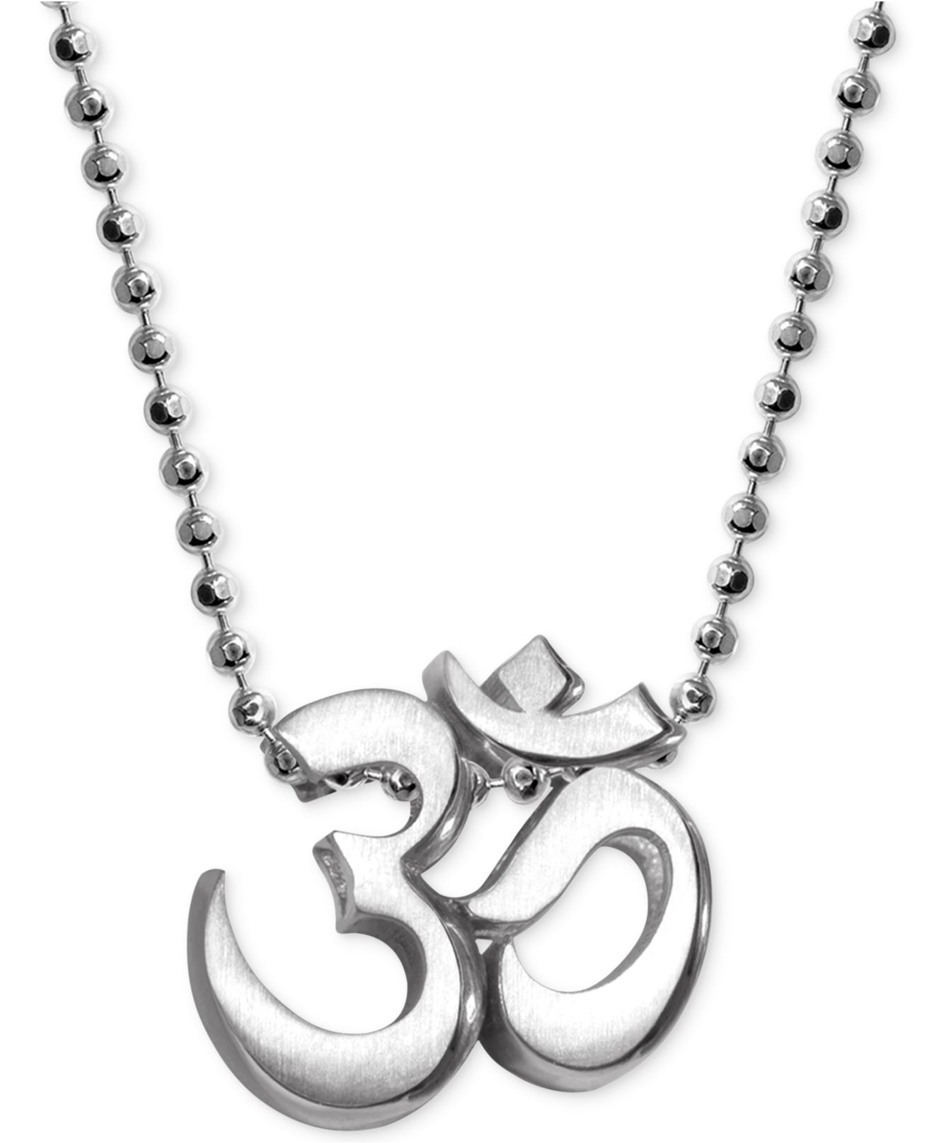 alex woo faith om pendant necklace in sterling