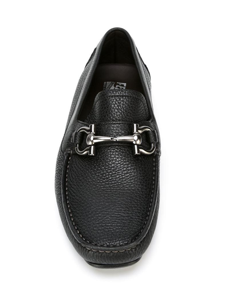 ferragamo parigi driving shoes in black for lyst