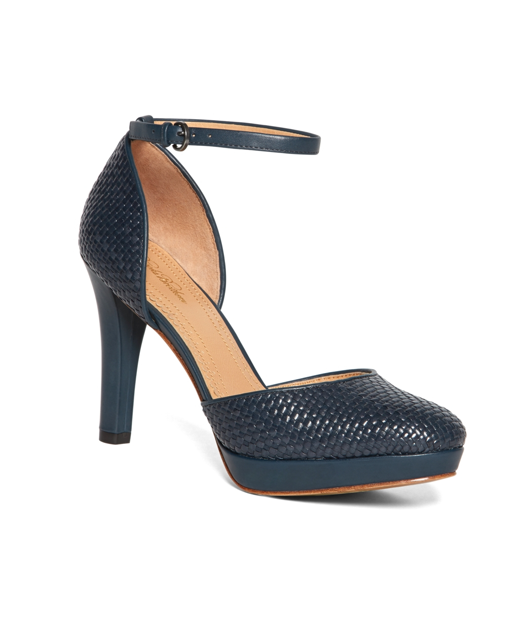 Womens T Strap Navy Shoe