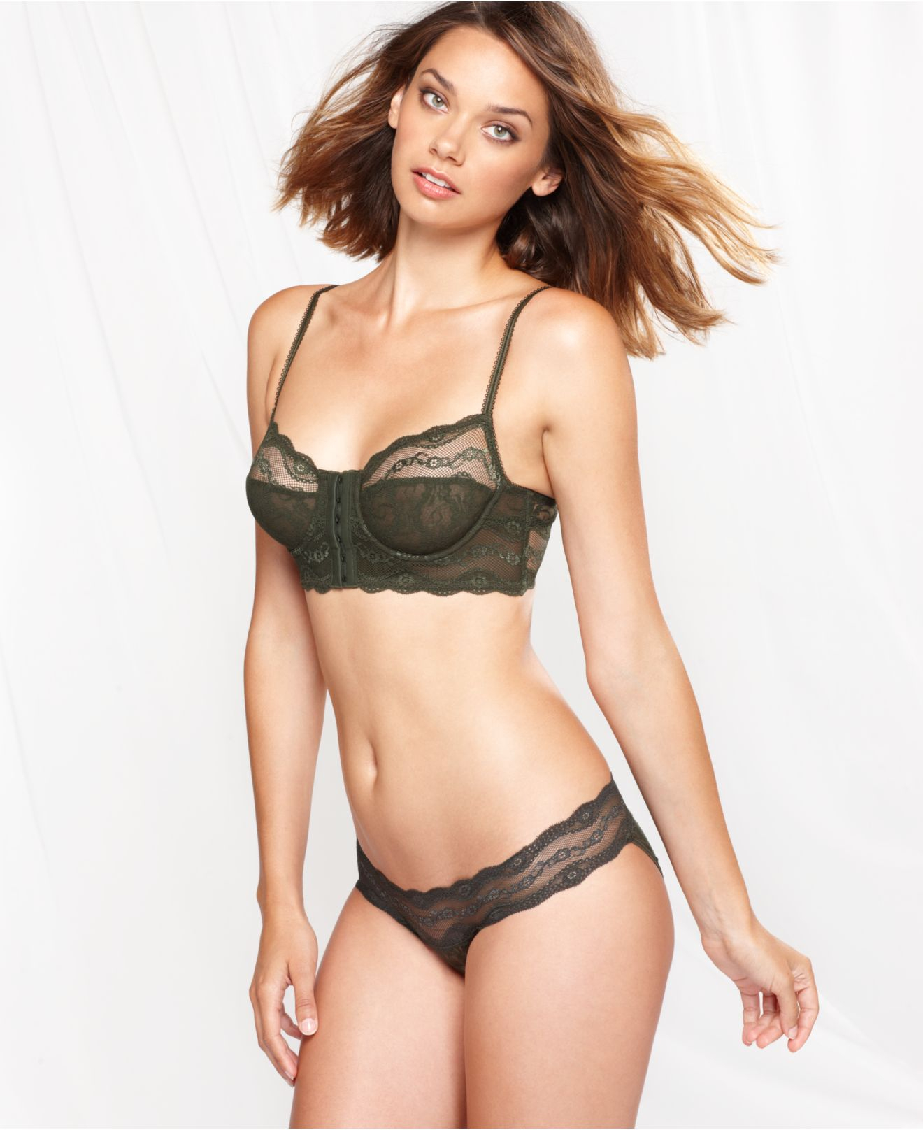 60ed9c478e763 Lyst - B.tempt d By Wacoal Lace Kiss Front Close Bralette 911182 in ...
