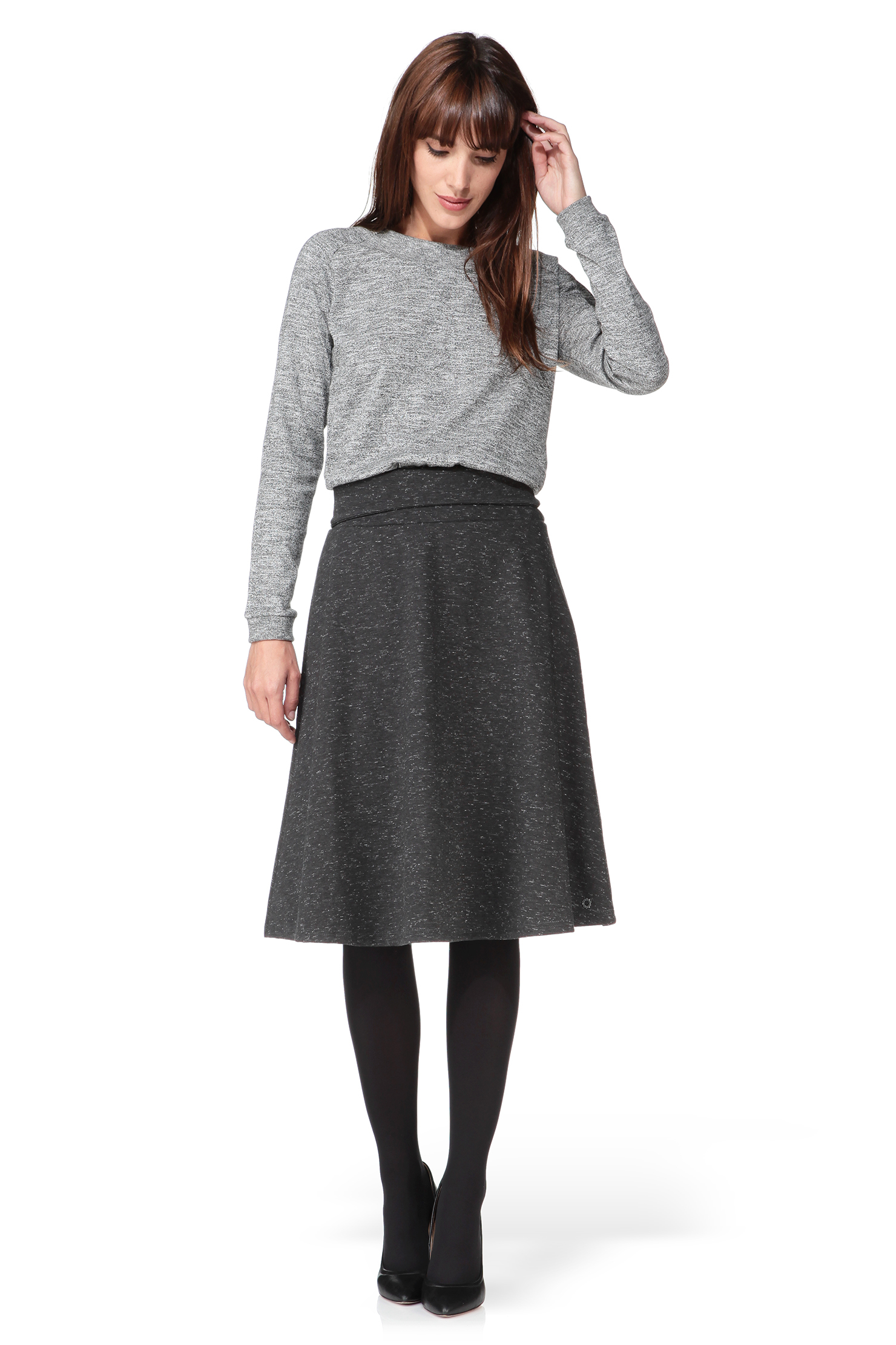Numph Mid-length Skirt in Gray | Lyst