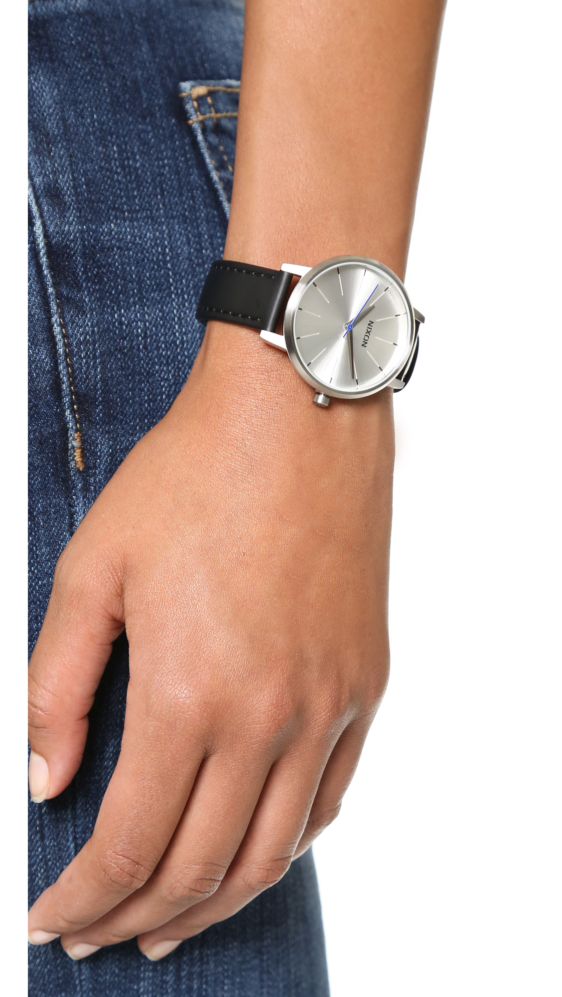 2783c923c Nixon Kensington Leather Watch in Metallic - Lyst