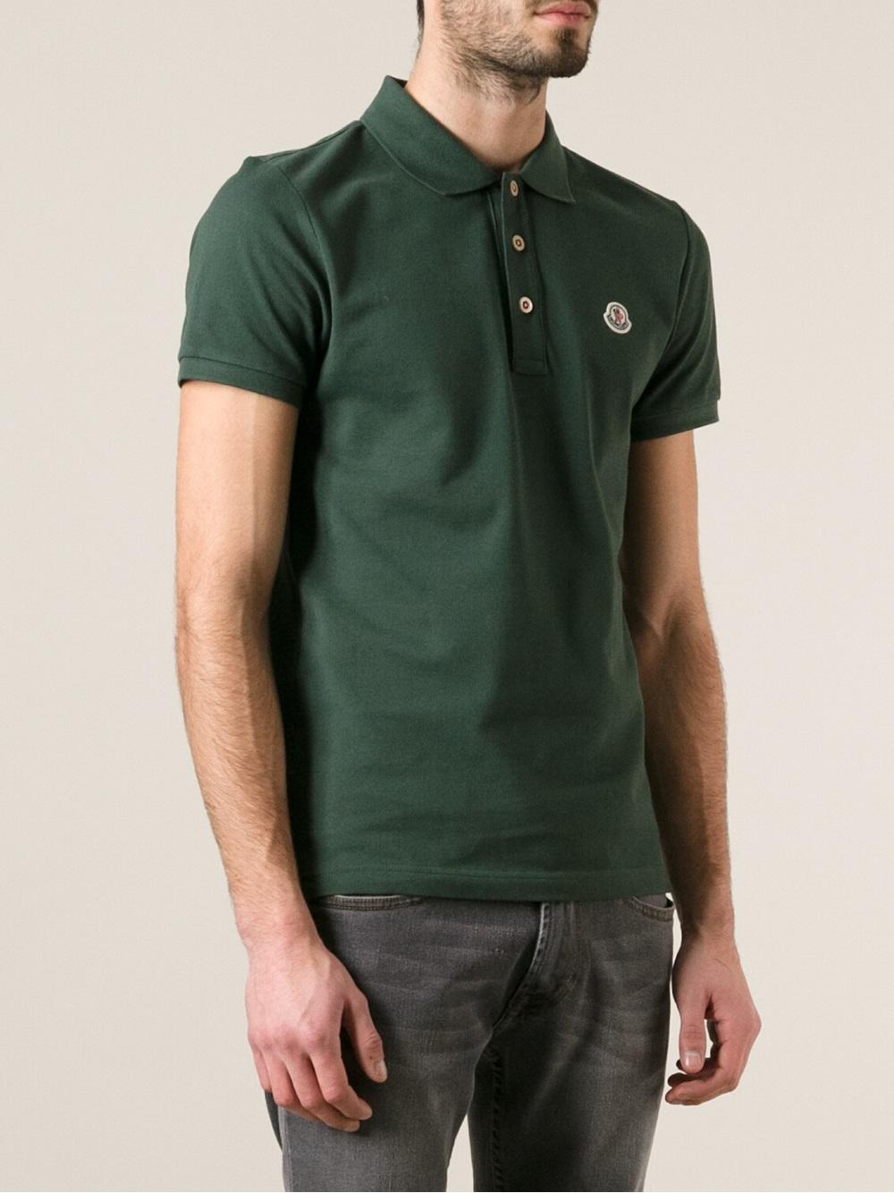 moncler green polo