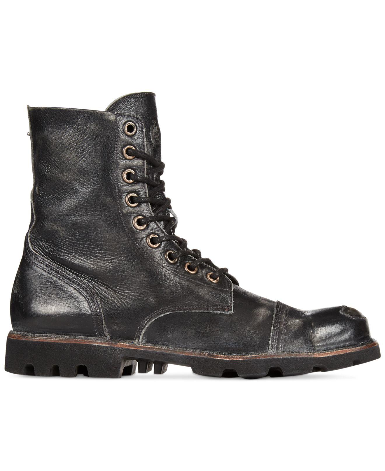 10b1bf33a32 DIESEL Black Hardkor Steel Toe Boots for men