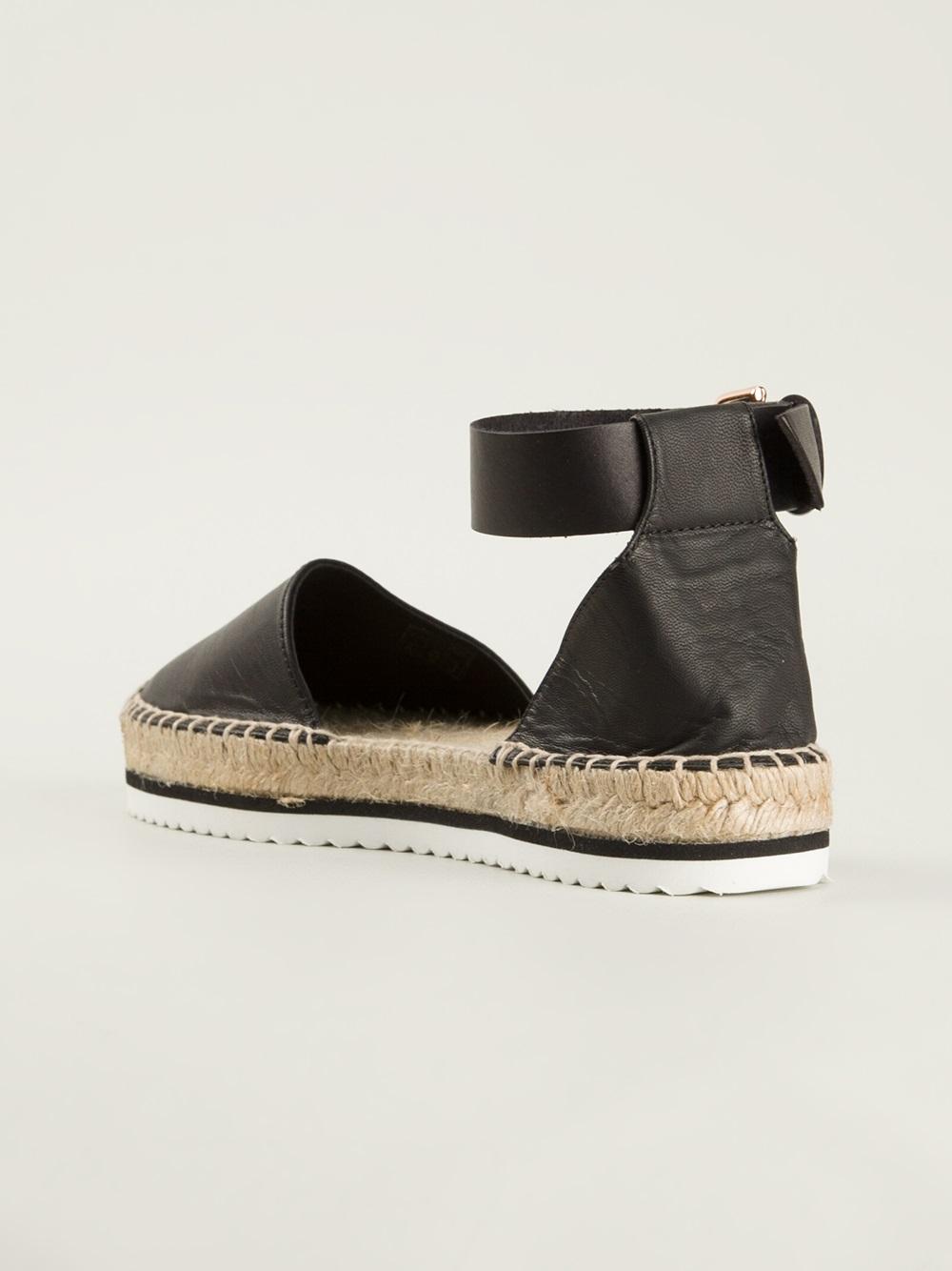 Lyst Miista Ankle Strap Espadrille In Black