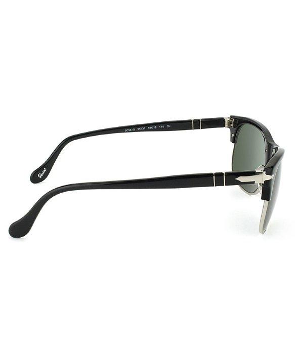 80abd73989 Persol Po 3034s 95 31 Black Clubmaster Sunglasses Grey Lens in Black ...