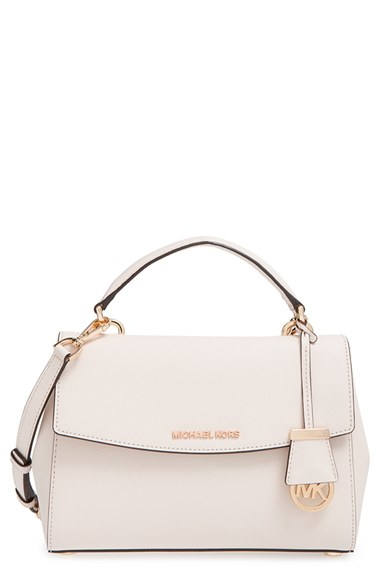 049d4857a761 MICHAEL Michael Kors 'small Ava' Saffiano Leather Satchel in White ...