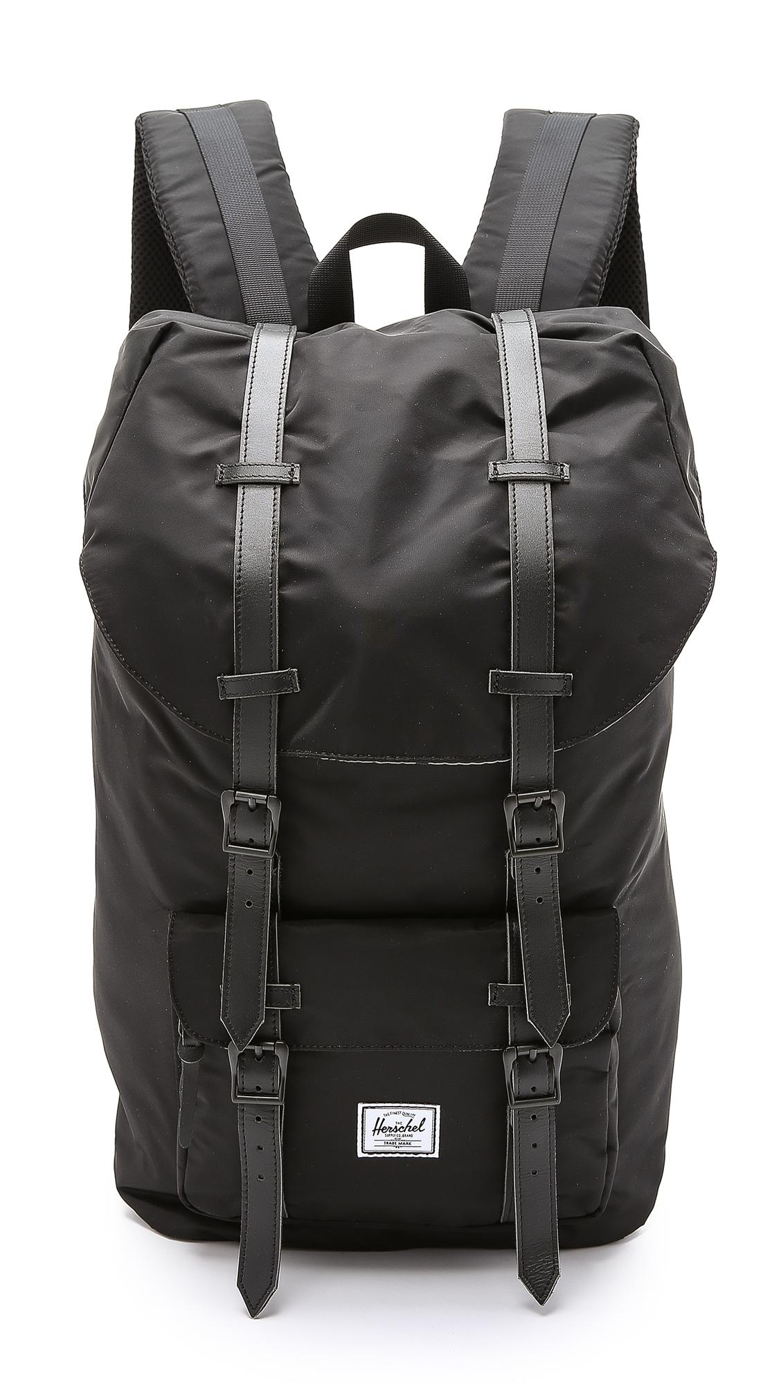 Lyst - Herschel Supply Co. Little America Nylon Backpack in Black ... 486da4151c679