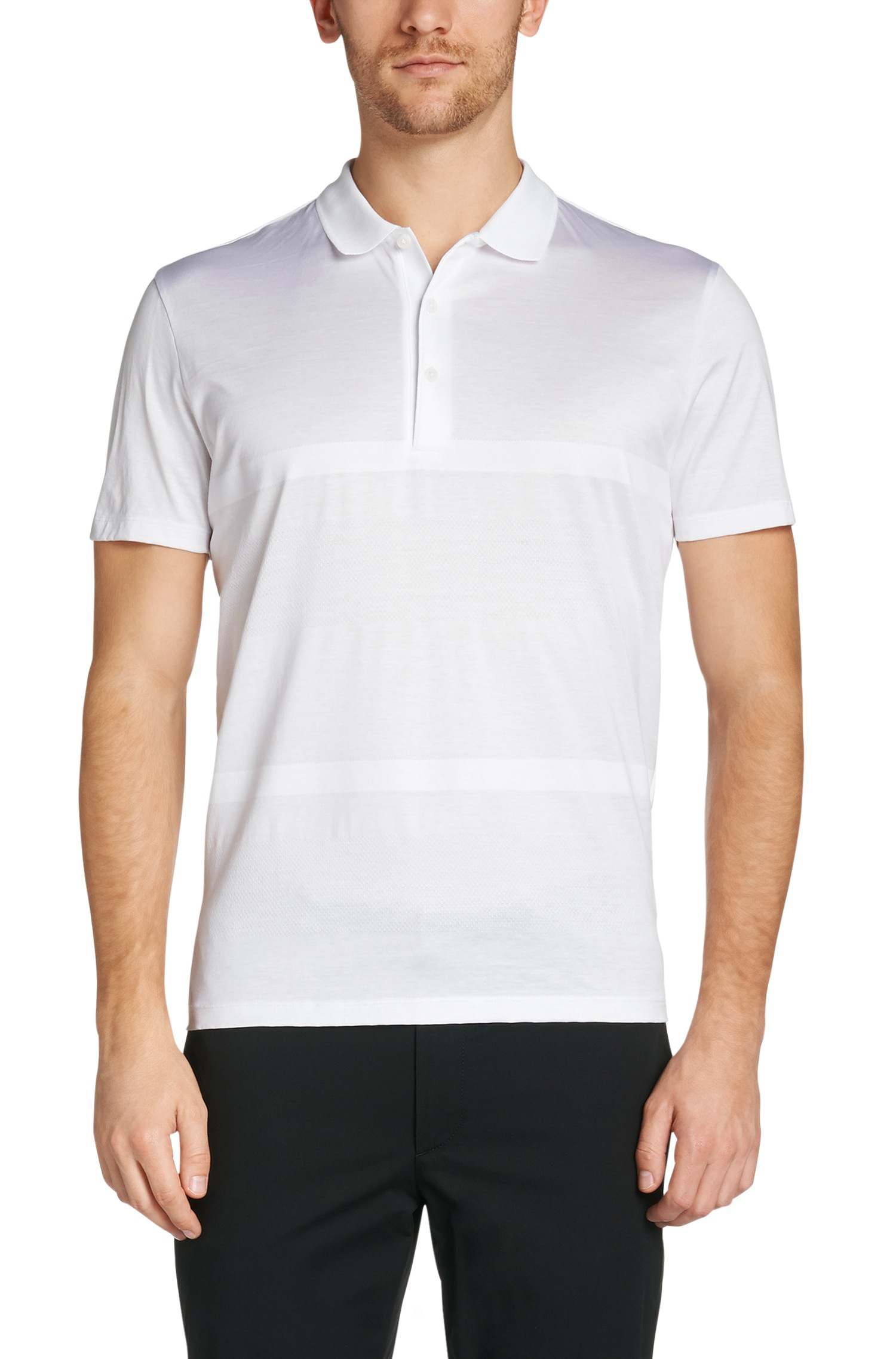 a0e451b28 BOSS 'piket' | Regular Fit, Mercedes Benz Cotton Polo in White for ...