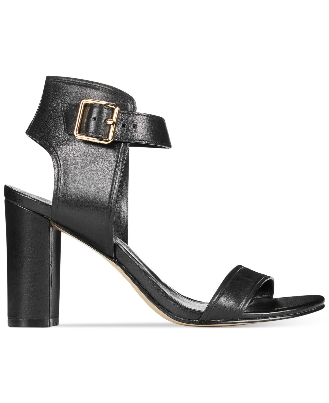 Womens Black High Heel Sandals