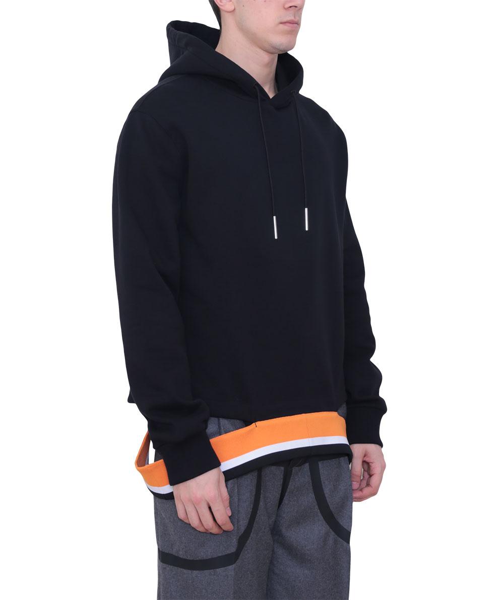 Black cotton hoodie