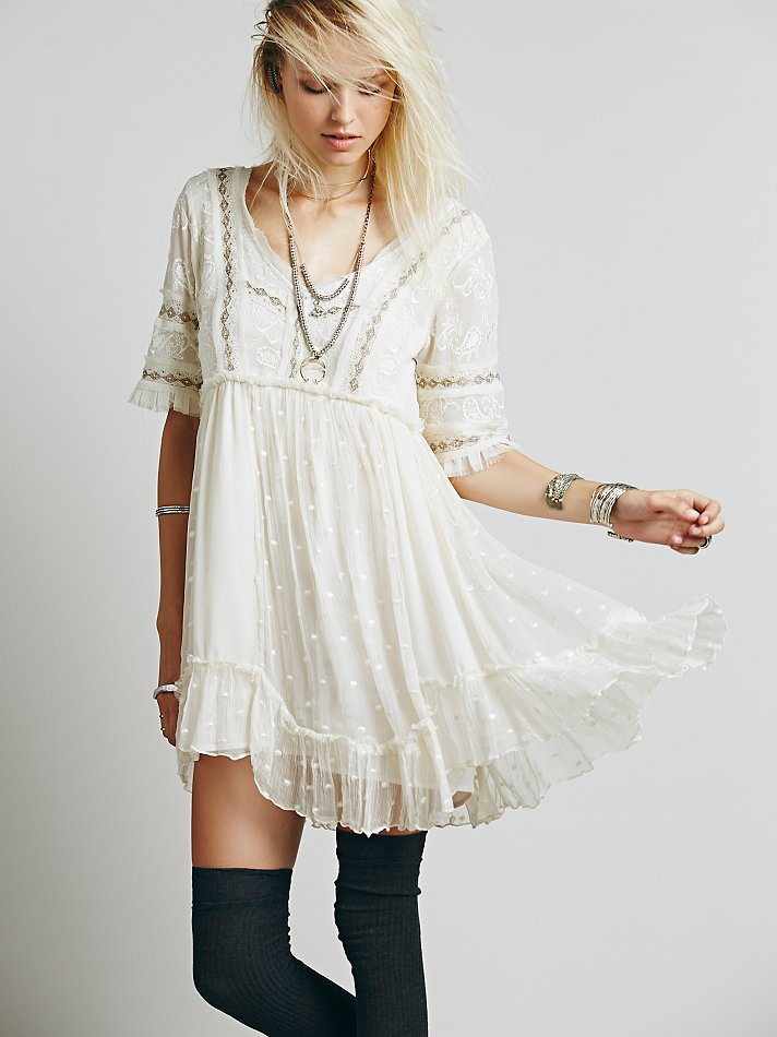 Free People Cora White Embroidered Dress 2 8a2f2734e